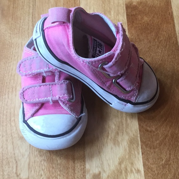 60e38f2778fe Converse Other - Pink converse toddler sneakers size 5